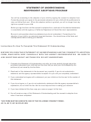 Form Ad 887a - Statement Of Understanding - Parent Who Did Not Give Physical Custody Of The Child To The Petitioner(s)