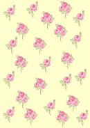 Pink Flower Pattern Template