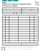 Form 526 - Jenkins Act Report Of Cigarette Sales To Persons In Alaska