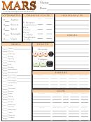 Mars Character Sheet