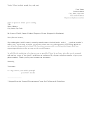 Notice Of Disagreement Sample Letter To School