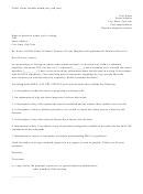 Prior Written Notice From School Sample Letter