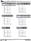 Charts With A Coordinate Grid Worksheet Template With Answer Key