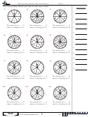 Determining Spinner Percent Chance Worksheet Template With Answer Key