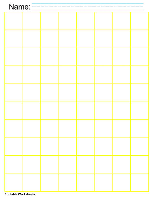 1 Inch Yellow Large Graph Paper Printable pdf