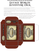 Savage Worlds Adventure Deck Tuck Box Template