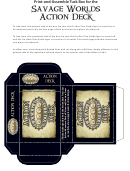 Savage Worlds Action Deck Tuck Box Template