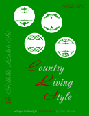 Country Living Style Labels Set Templates