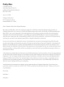Chemical Engineering Job Application Letter Sample