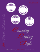 Country Living Style 20 Fillable Label Templates