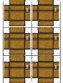 Minecraft Chest Paper Craft Template