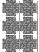 Minecraft Cobblestone Paper Craft Template