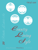 Country Living Style 20 Fillable Labels Templates