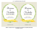 5x7 Watercolor Save The Date Wedding Invitation Templates