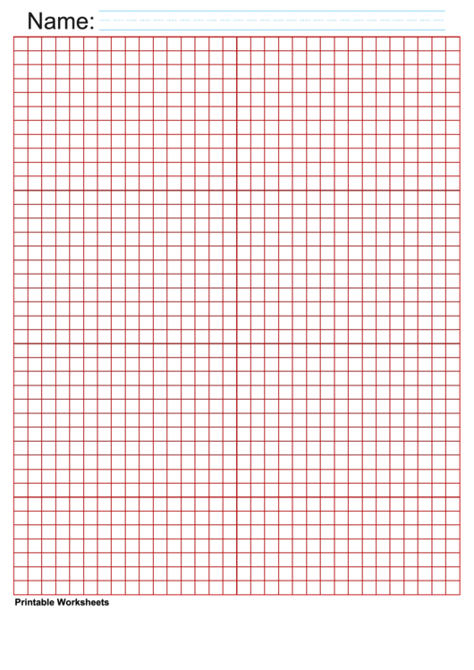 1/4 Inch Red Blank Graph Paper Printable pdf