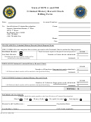 Form Dci-67 - Criminal History Record Check Billing Form - Iowa Division Of Criminal Investigation