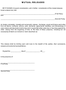 Mutual Release Form