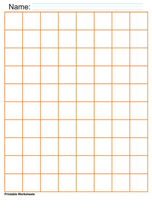 1 Inch Orange Graph Paper Printable pdf