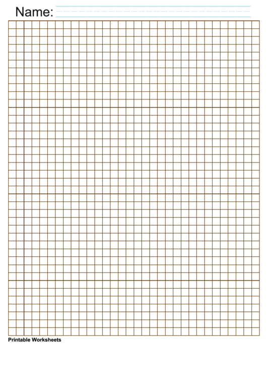 1/4 Inch Brown Blank Graph Paper