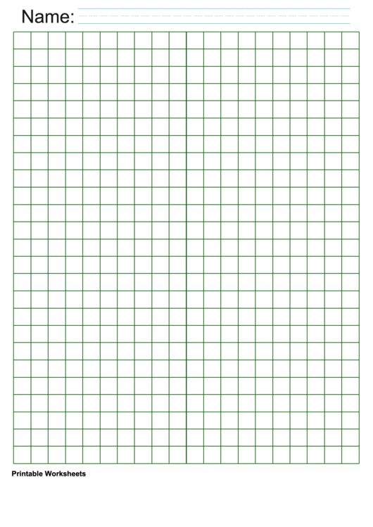 Green Centimeter Graph Paper Printable pdf