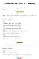 Event Proposal Template Checklist