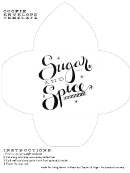 Sugar And Spice Cookie Envelope Template