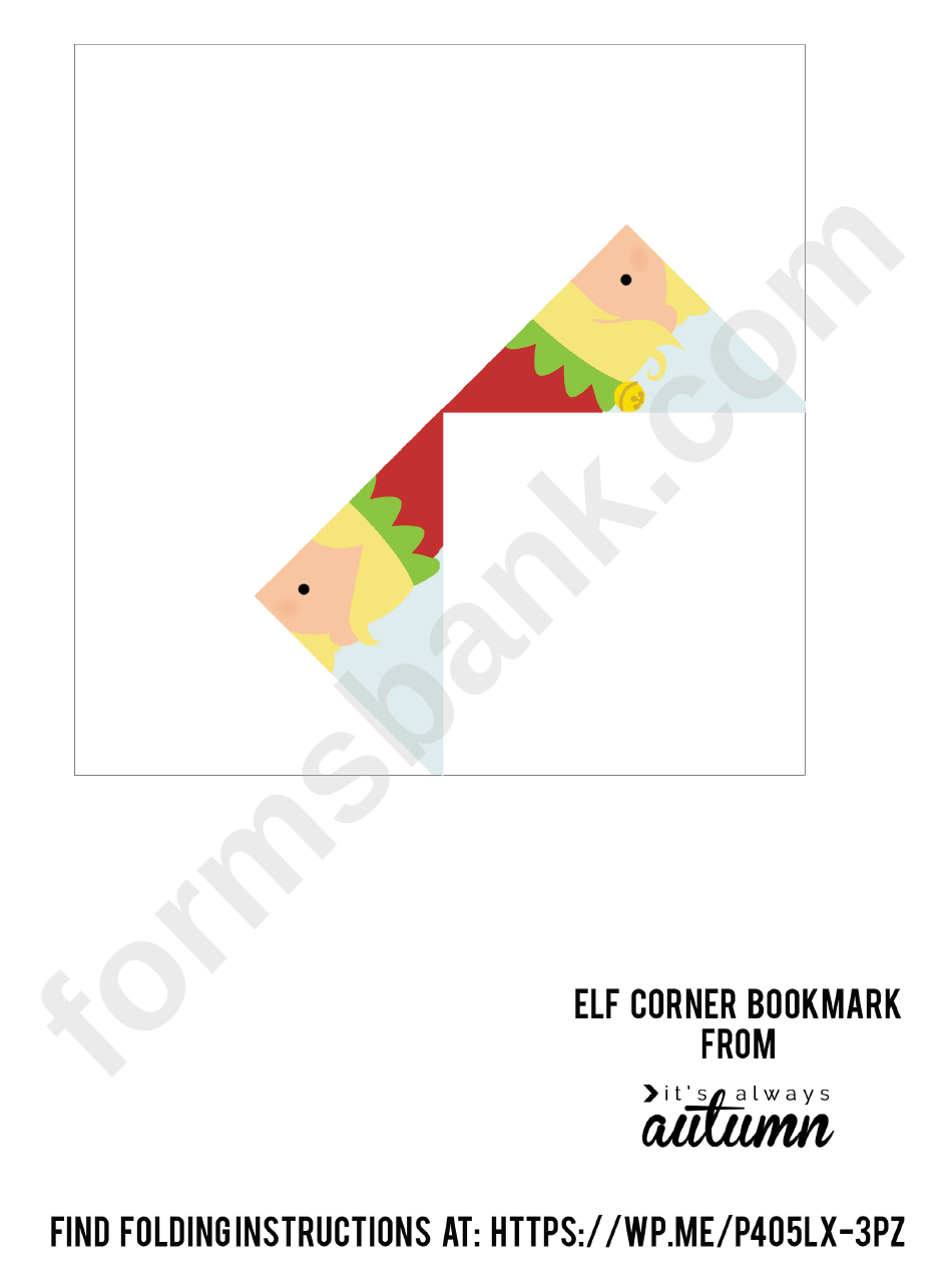 Corner bookmark template elf origami printable pdf download corner bookmark template elf origami maxwellsz