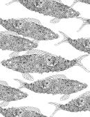 Abstract Fishes Hard Coloring Sheet
