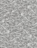Abstract Waves Hard Coloring Sheet