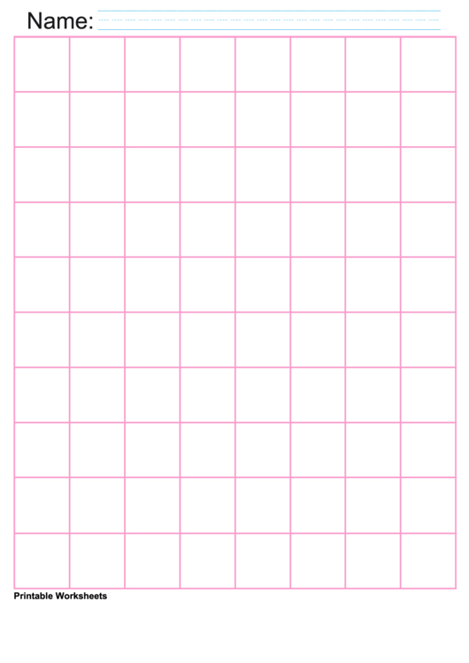 1 Inch Pink Large Graph Paper Printable pdf