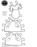 Black & White Dress And Shoes Template