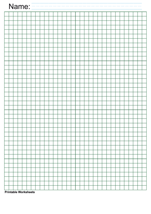 Green Quarter Inch Graph Paper Printable pdf