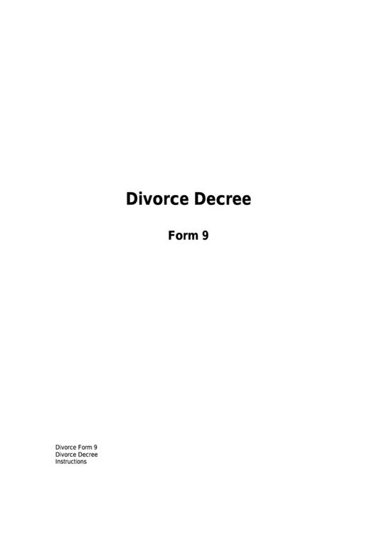 Form 9 - Divorce Decree