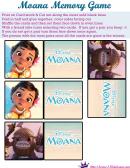Moana Memory Game