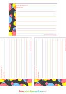 Recipe Card Template - Retro Spot 4x6