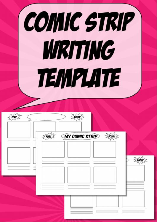 Comic Strip Writing Template - 6 Panels