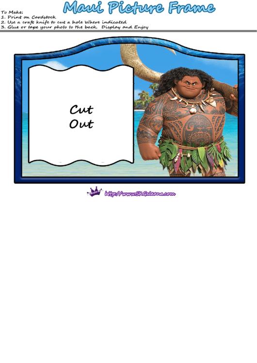 Mauni Picture Frame Template Printable pdf