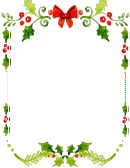Letter To Santa Letter Template - Watercolor Christmas Themed Background