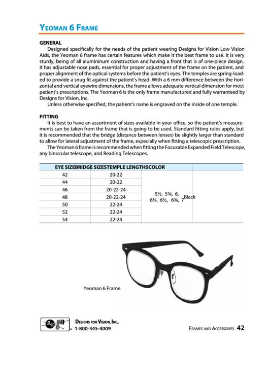 Yeoman 6 Frame Chart Printable pdf