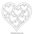 Hearts In Heart Coloring Sheet
