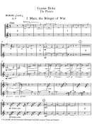 Gustav Holst - The Planets Sheet Music