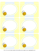 Bumble Bee Shower Multi-purpose Label Template