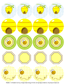 Bumble Bee Shower Circle Label Template