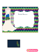 Peacock Bridal Shower Invitation Template