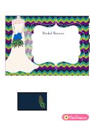 Peacock Bridal Shower Invitation Template