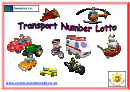 Transport Number Lotto Chart