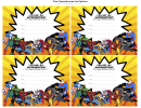 Calling All Superheroes For A Super Birthday Party Invitation Template