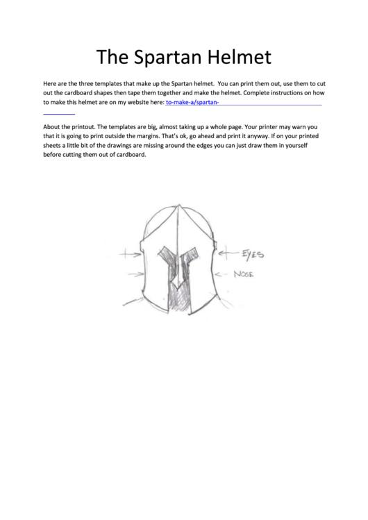 spartan helmet template printable pdf download