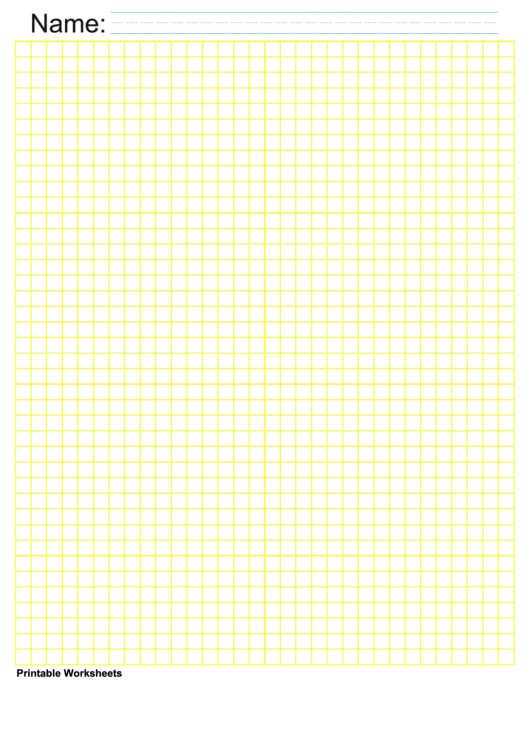 1/4 Inch Yellow Blank Graph Paper