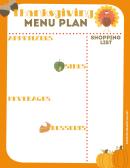 Thanksgiving Menu Plan Template